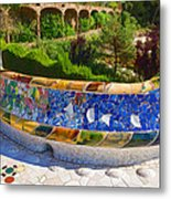 Gaudi's Park Guell - Impressions Of Barcelona Metal Print