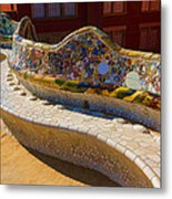 Gaudi's Park Guell Sinuous Curves - Impressions Of Barcelona Metal Print