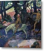 Gauguin, Paul 1848-1903. Ford Running Metal Print