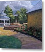 Gazebo In Potter Nebraska Metal Print by Jerry McElroy
