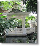 Gazebo Of The Tropics Metal Print