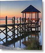 Gently - Gazebo On The Sound Outer Banks North Carolina Metal Print