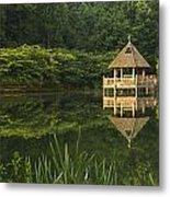 Gazebo Reflections Metal Print