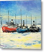 Gdynia Harbour - Winter Metal Print