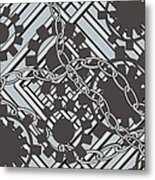 Gears And Chains Metal Print