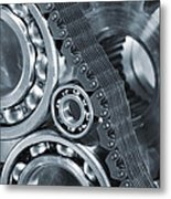 Gears And Cogs Titanium And Steel Power Metal Print