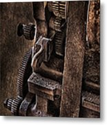 Gears And Pulley Metal Print