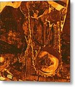 Gears In Yellow Metal Print