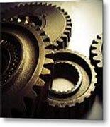 Gears Metal Print by Les Cunliffe