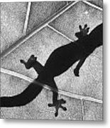 Gecko Shadow Metal Print