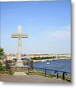 Gellert Hill Cross In Budapest Metal Print