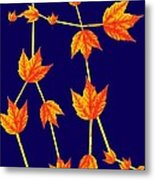 Gemini Constellation Composed By Maple Leaves Metal Print