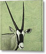 Gemsbok Metal Print by James W Johnson