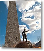 Gen. John Stark At The Bennington Battle Monument Metal Print