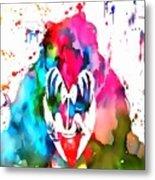 Gene Simmons Paint Splatter Metal Print