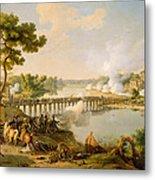 General Bonaparte Giving Orders At The Battle Of Lodi Metal Print