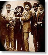 General Fierro With Chicken And Villa Unknown Location Or Date-2013 Metal Print