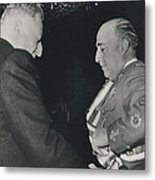 General Franco Decorated. Receives Garsnd Of The Omeyas - Metal Print