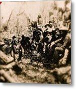 General George R. Crook Negotiating With Geronimo  1886-2008 Metal Print