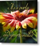 General Party Invitation - Blanket Flower Wildflower Metal Print by Mother Nature
