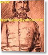 General Pickett Confederate  Metal Print