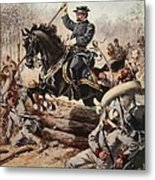 General Sheridan At The Battle Of Five Metal Print