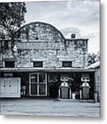 General Store In Independence Texas Bw Metal Print