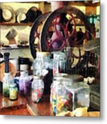 General Store With Candy Jars Metal Print