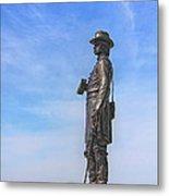 General Warren Statue At Gettysburg Metal Print by Randy Steele