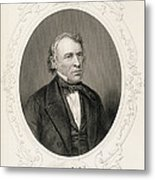 General Zachary Taylor, From The History Of The United States, Vol. II, By Charles Mackay, Engraved Metal Print