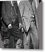 Generals Fierro And Villa Unknown Location 1913 -2013 Metal Print