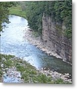 Genesee River In Grand Canyon Of East Metal Print