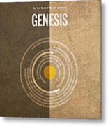 Genesis Books Of The Bible Series Old Testament Minimal Poster Art Number 1 Metal Print