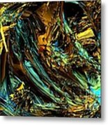 Genesis In Yellow Metal Print