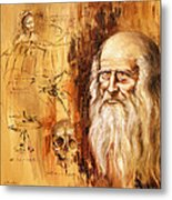Genius   Leonardo Da Vinci Metal Print