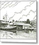 Genius Ready To Fish Gig Harbor Metal Print by Jack Pumphrey