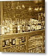 Genoa Bar Oldest Saloon In Nevada's Old West History Metal Print by Artist and Photographer Laura Wrede