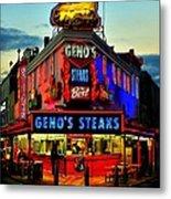 Geno's Steaks Metal Print by Benjamin Yeager