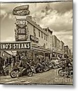 Geno's With Cycles Metal Print