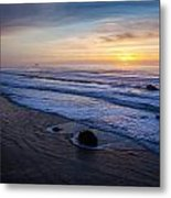Gentle Evening Waves Metal Print