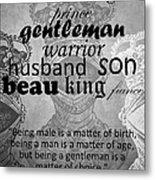 Gentleman 4 Metal Print