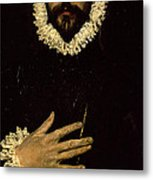 Gentleman With His Hand On His Chest Metal Print