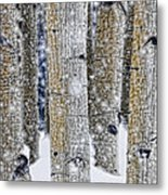 Gently Falling Forest Snow Metal Print