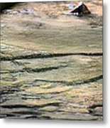 Gently Gliding Water Abstract Metal Print