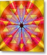 Geo-cosmic Sri Yantra Metal Print