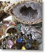 Geode To Beads Metal Print by Jaime Neo