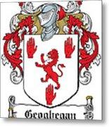 Geoghegan Coat Of Arms Westmeath Ireland Metal Print