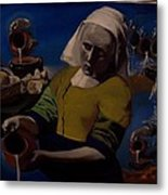 Geological Milk Maid Anthropomorphasized Metal Print