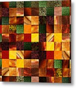 Geometric Abstract Quilted Meadow Metal Print