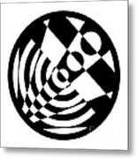Geometric Circle 5 Metal Print